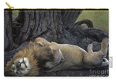 African Lion Panthera Leo Wild Kenya Carry-all Pouch