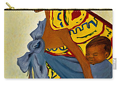 African Mother And Child Carry-all Pouch by Sher Nasser