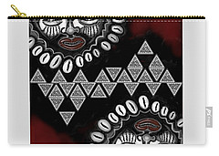 African Queen-of-hearts Card Carry-all Pouch by Carol Jacobs