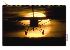 Carry-all Pouch featuring the photograph African Sunset by Paul Job