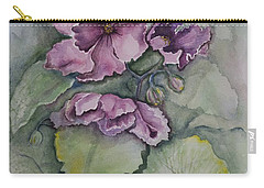 African Violets Carry-all Pouch