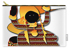 Carry-all Pouch featuring the digital art African Worker by Marvin Blaine