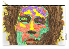 Carry-all Pouch featuring the painting Afro Bob Marley by Stormm Bradshaw