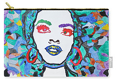 Carry-all Pouch featuring the painting Afro Lauryn Hill  by Stormm Bradshaw