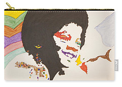 Carry-all Pouch featuring the painting Afro Michael Jackson by Stormm Bradshaw