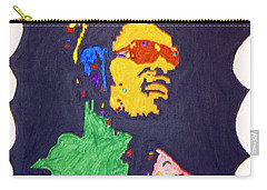Carry-all Pouch featuring the painting Afro Stevie Wonder by Stormm Bradshaw
