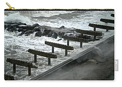 Carry-all Pouch featuring the photograph After Storm Sandy by Joan Reese