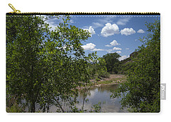 Carry-all Pouch featuring the photograph Afternoon By The Stream by Judy Hall-Folde