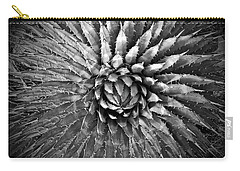 Agave Spikes Black And White Carry-all Pouch