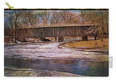 Aged Covered Bridge  Carry-all Pouch by Susan  McMenamin