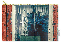 Carry-all Pouch featuring the photograph Aging Caboose And Window by Gary Slawsky