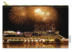 Carry-all Pouch featuring the photograph Aida Cruise Ship 2014 New Year's Day New Year's Eve by Paul Fearn