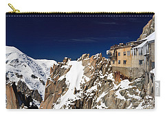 Carry-all Pouch featuring the photograph Aiguille Du Midi -  Mont Blanc Massif by Antonio Scarpi