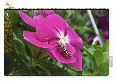 Carry-all Pouch featuring the photograph Ailanthus Webworm Moth Visiting My Garden by Verana Stark