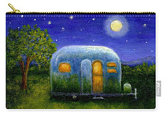 Airstream Camper Under The Stars Carry-all Pouch by Sandra Estes