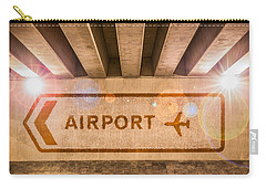 Airport Directions Carry-all Pouch by Semmick Photo