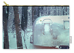 Airstream Trailer In Snowy Woods Carry-all Pouch