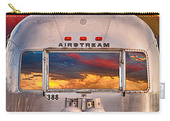 Airstream Travel Trailer Camping Sunset Window View Carry-all Pouch