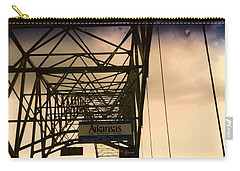 Carry-all Pouch featuring the photograph Akansas Here We Come by Amazing Photographs AKA Christian Wilson