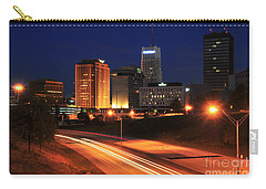 D1u-140 Akron Ohio Night Skyline Photo Carry-all Pouch
