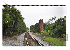 Carry-all Pouch featuring the photograph Alabama Tracks by Verana Stark