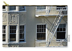 Carry-all Pouch featuring the photograph Alamo Square San Francisco by Steven Richman