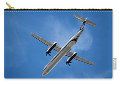 Flight Carry-all Pouch featuring the photograph Alaska Airlines Turboprop Wide Version by Aaron Berg