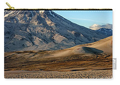 Carry-all Pouch featuring the photograph Alaska Landscape Scenic Mountains Snow Sky Clouds by Paul Fearn