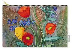 Alaska Poppies And Forgetmenots Carry-all Pouch