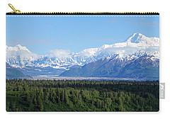 Alaskan Denali Mountain Range Carry-all Pouch by Jennifer White