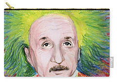 Carry-all Pouch featuring the drawing Albert Einstein by Yoshiko Mishina