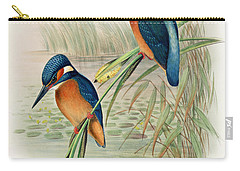 Alcedo Ispida Plate From The Birds Of Great Britain By John Gould Carry-all Pouch