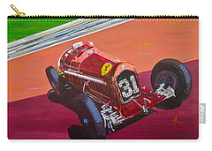 Carry-all Pouch featuring the painting Alfa Romeo Tipo B P3  by Anna Ruzsan