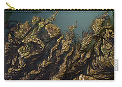 Carry-all Pouch featuring the digital art Algae by Ron Harpham