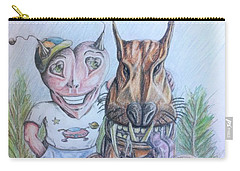Alien Boy And His Best Friend Carry-all Pouch by R Muirhead Art
