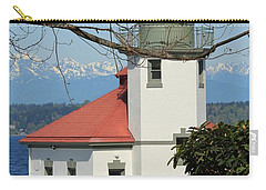 Alki Lighthouse Carry-all Pouch by E Faithe Lester