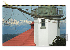 Carry-all Pouch featuring the photograph Alki Lighthouse II by E Faithe Lester