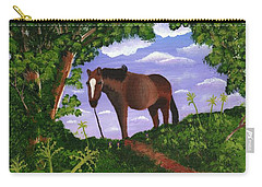 Carry-all Pouch featuring the painting All Alone by Laura Forde