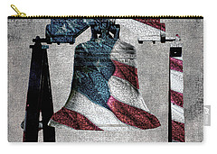 All American Liberty Bell Art_denim Carry-all Pouch
