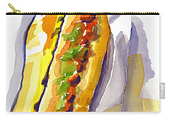 All Beef Ballpark Hot Dog With The Works To Go In Broad Daylight Carry-all Pouch