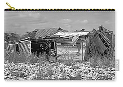 Carry-all Pouch featuring the photograph All But Gone Black And White by Victor Montgomery