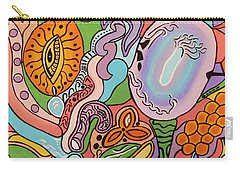Carry-all Pouch featuring the painting All Seeing Egg Salad by Barbara St Jean
