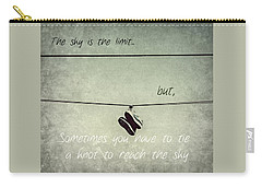 All Tied Up Inspirational Carry-all Pouch by Melanie Lankford Photography