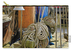 Carry-all Pouch featuring the digital art All Tied Up by Ron Harpham
