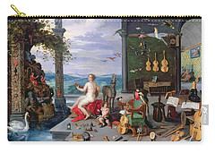 Allegory Of Music Oil On Canvas Carry-all Pouch
