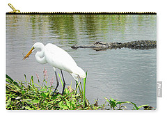 Alligator Egret And Shrimp Carry-all Pouch