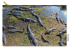 Alligators Along The Anhinga Trail Carry-all Pouch