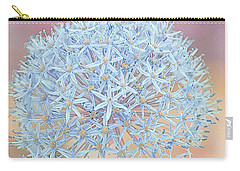 Carry-all Pouch featuring the digital art Allium Bursting by Susan  McMenamin