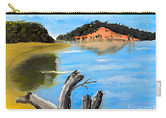 Carry-all Pouch featuring the painting Allonah Beach Tasmania by Pamela  Meredith