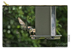 Carry-all Pouch featuring the photograph Almost A Ruff Bird Landing by Thomas Woolworth